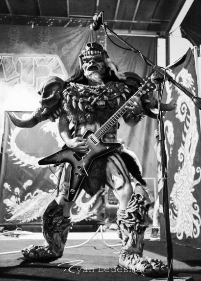 Gwar performing Wednesday in Saint Louis for Vans Warped Tour. Photo by Ryan Ledesma.