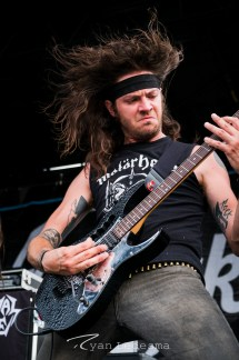 Municipal Waste performing Wednesday in Saint Louis for Vans Warped Tour. Photo by Ryan Ledesma.