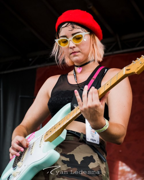 Tillie performing Wednesday in Saint Louis for Vans Warped Tour. Photo by Ryan Ledesma.