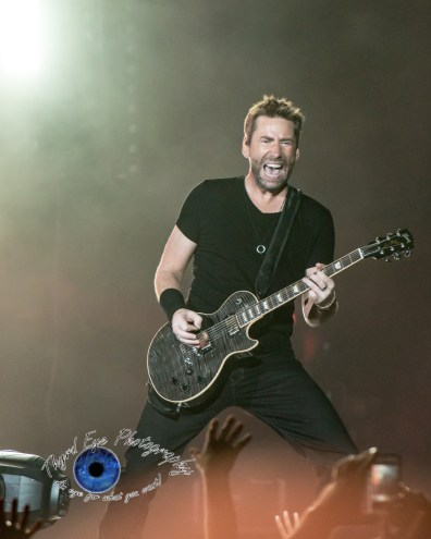 Chad Kroeger of Nickelback performing at Hollywood Casino Amphitheatre in Saint Louis. Photo by Sean Derrick/Thyrd Eye Photography.