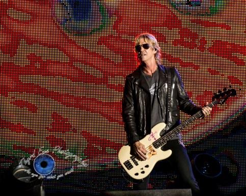 Duff McKagan of Guns N' Roses performing in Saint Louis Thursday. Photo by Sean Derrick/Thyrd Eye Photography