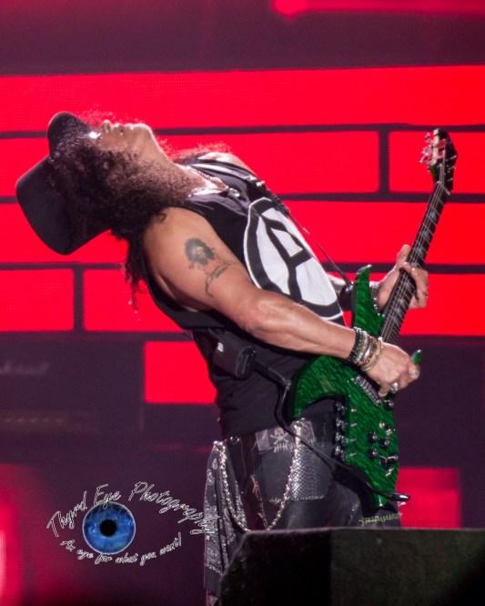 Slash of Guns N' Roses performing in Saint Louis Thursday. Photo by Sean Derrick/Thyrd Eye Photography