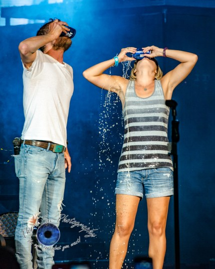 Dierks Bentley and a fan at the Hollywood Casino Amphitheatre in Saint Louis. Photo by Sean Derrick/Thyrd Eye Photography