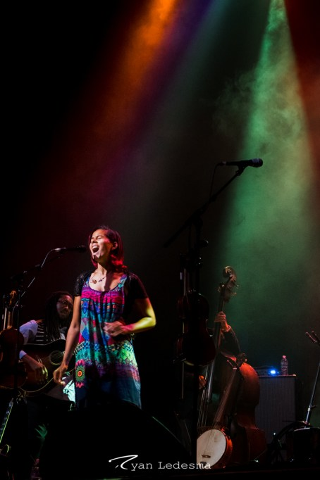 Rhiannon Giddens performing at The Pageant in Saint Louis. Photo by Ryan Ledesma