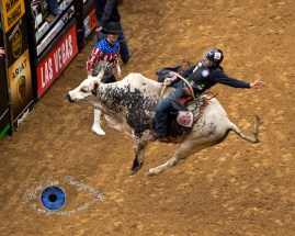 Claudio Montanha Jr competing in the PBR Saint Louis Invitational. Photo by Sean Derrick/Thyrd Eye Photography.