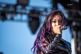 Butcher Babies performing at Rockfest in Kansas City. Photo by Keith Brake Photography.