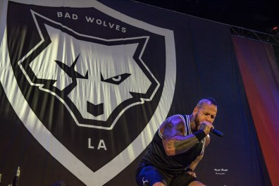 Bad Wolves performing at Hollywood Casino Amphitheare in Saint Louis Tuesday. Photo by Keith Brake Photography.