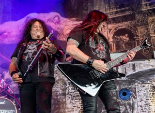 Testament performing in Saint Louis at Hollywood Casino Amphitheatre. Photo by Sean Derrick/Thyrd Eye Photography.