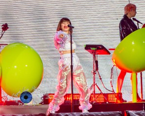 Charli XCX performs Tuesday in Saint Louis at the Dome at America's Center for the Taylor Swift Reputation Tour. Photo by Sean Derrick/Thyrd Eye Photography