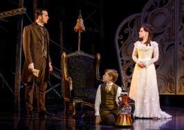 "Sean Thompson (""Raoul, Vicomte de Chagny""), Christian Harmston (""Gustave"") and Meghan Picerno (""Christine Daaé"") star in Love Never Dies. Photo: Joan Marcus."