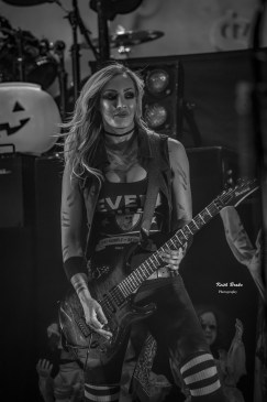 Nita Straus performing with Alice Cooper Saturday night at Stifel Theatre in Saint Louis. Photo by Keith Brake Photography.