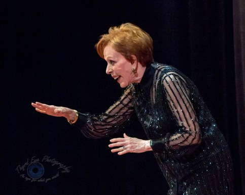 Carol Burnett answering questions at Stifel Theatre in Saint Louis Thursday night. Photo by Sean Derrick/Thyrd Eye Photography.
