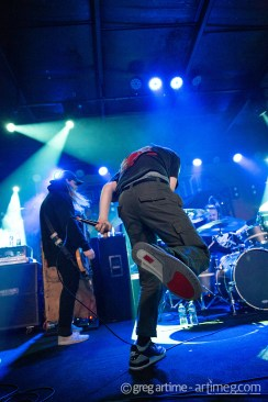 Knocked Loose performing at Pop's Nightclub Thursday. Photo by Greg Artime.