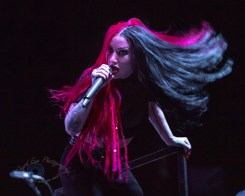 Ash Costello of New Years Day performing at Stifel Theatre in Saint Louis Thursday night. Photo by Sean Derrick/Thyrd Eye Photography.