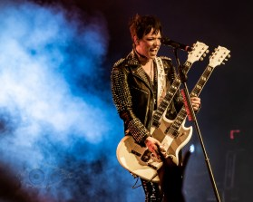 Lzzy Hale of Halestorm performing at Stifel Theatre in Saint Louis Thursday night. Photo by Sean Derrick/Thyrd Eye Photography.