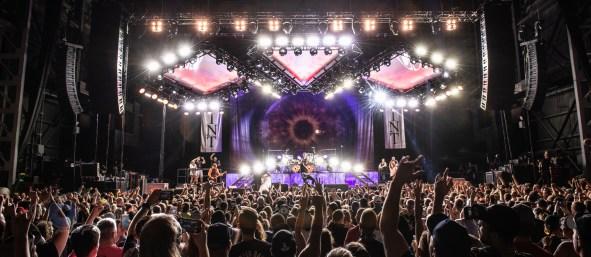 Breaking Benjamin performing at their tour kickoff at Hollywood Casino Amphitheatre. Photo by Sean Derrick/Thyrd Eye Photography.