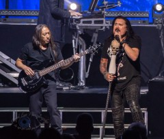 John Myung and James LaBrie during Dream Theater's performance Wednesday at Stifel Theater in Saint Louis. Photo by Sean Derrick/Thyrd Eye Photography.