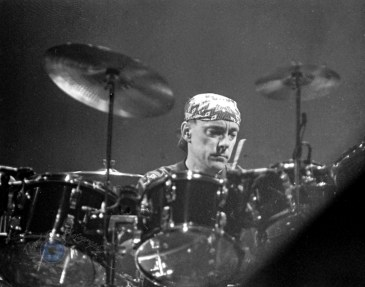 Neil Peart performing with Rush at The Arena in 1991. Photo by Sean Derrick.