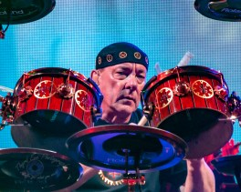 Neil Peart performing with Rush at Scottrade Center in 2012. Photo by Sean Derrick/Thyrd Eye Photography.