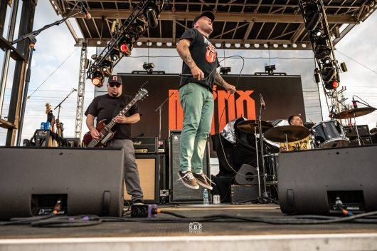 The Bronx performing an outdoor show at Pops nightclub Sunday. Photo by Keith Brake/ KBP Studios