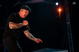 Dropkick Murphys performing an outdoor show at Pops nightclub Sunday. Photo by Keith Brake/ KBP Studios