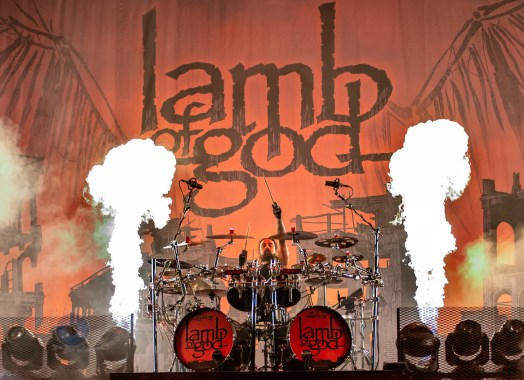 Lamb of God performing at Hollywood Casino Amphitheatre in St. Louis. Photo by Sean Derrick/Thyrd Eye Photography.