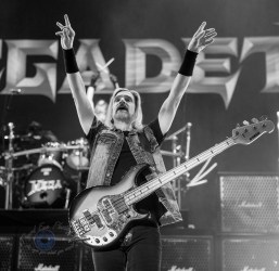 James LoMenzo of Megadeth performing at Hollywood Casino Amphitheatre in St. Louis. Photo by Sean Derrick/Thyrd Eye Photography.