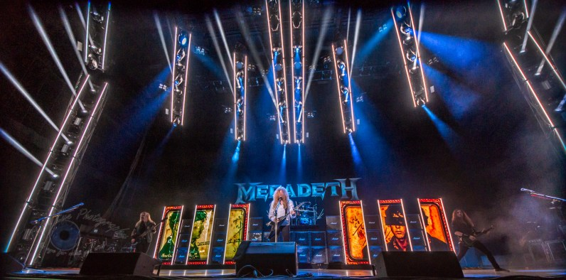 Megadeth performing at Hollywood Casino Amphitheatre in St. Louis. Photo by Sean Derrick/Thyrd Eye Photography.