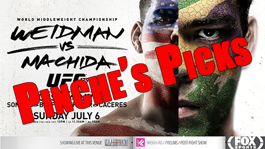 Pinche's Picks UFC 175