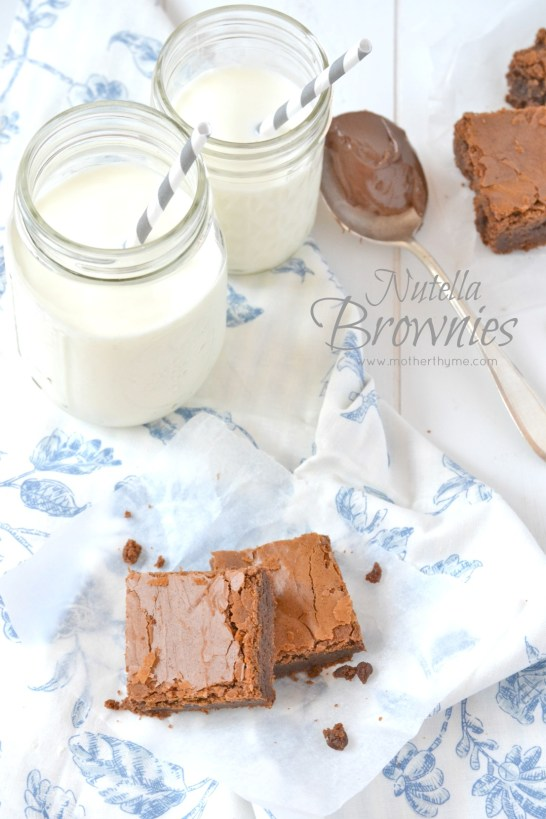 Nutella Brownies | www.motherthyme.com