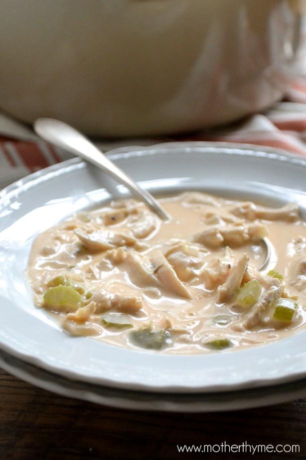 Buffalo Chicken Wing Soup | www.motherthyme.com