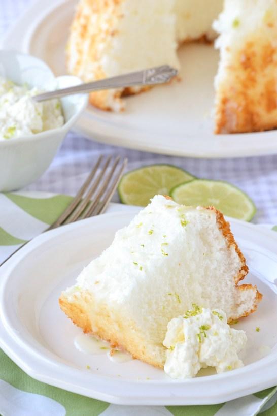 Key Lime Angel Food Cake