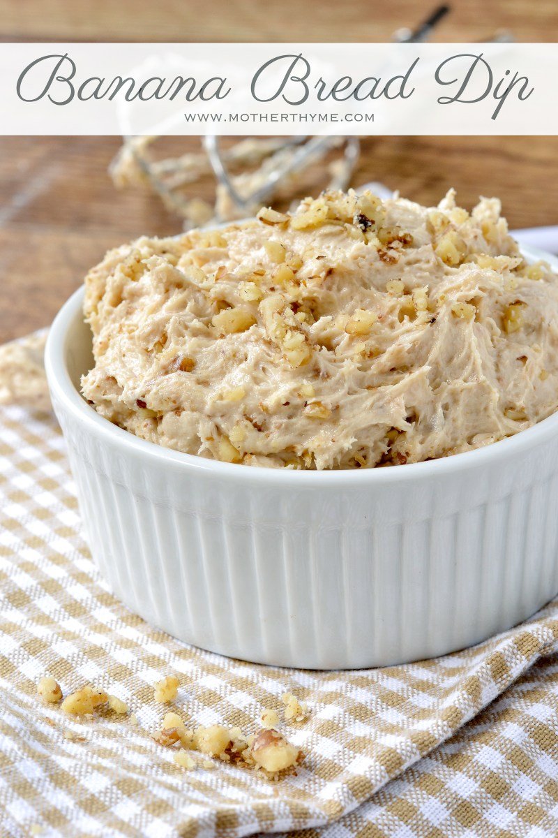 Yummy and addicting Banana Bread Dip | www.motherthyme.com