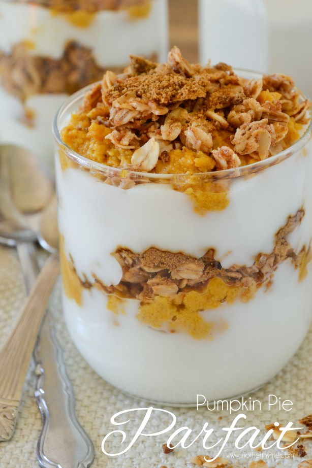 Pumpkin Pie Parfait- Mother Thyme