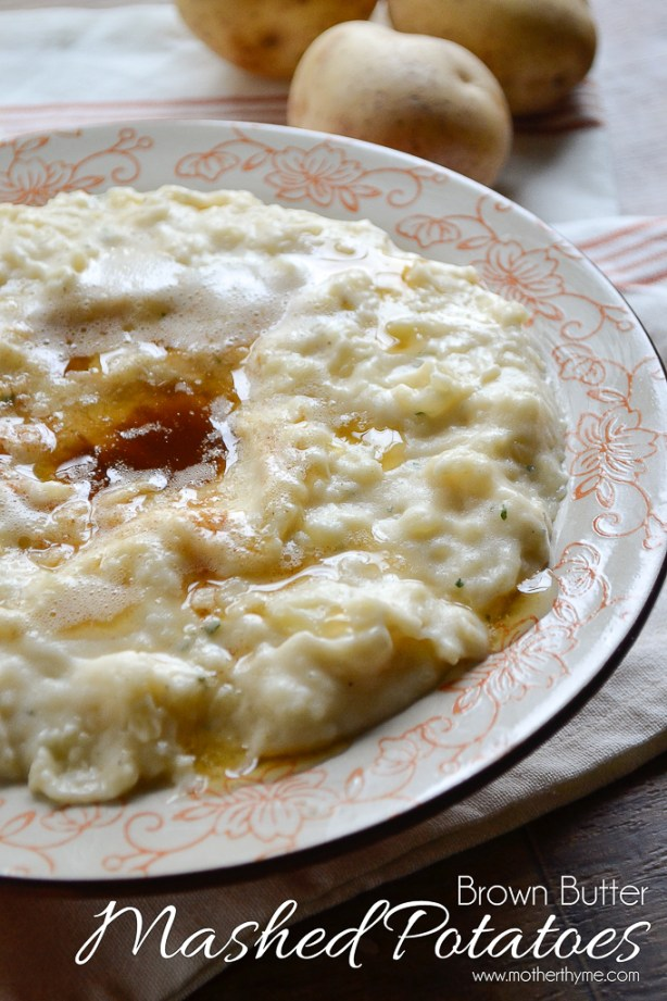 Brown Butter Mashed Potatoes | www.motherthyme.com
