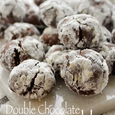Double Chocolate Crinkles