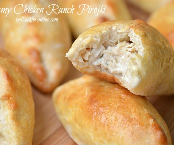 Creamy Chicken Ranch Pirojki