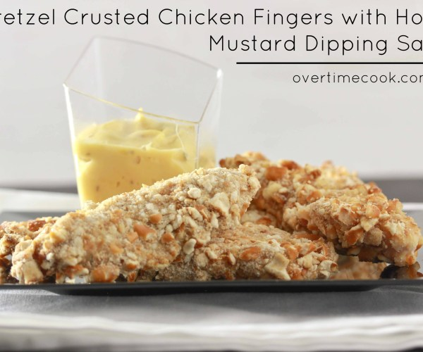 Pretzel Crusted Chicken Fingers
