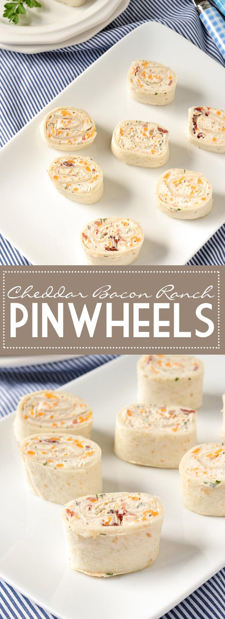 Cheddar Bacon Ranch Pinwheels | www.motherthyme.com