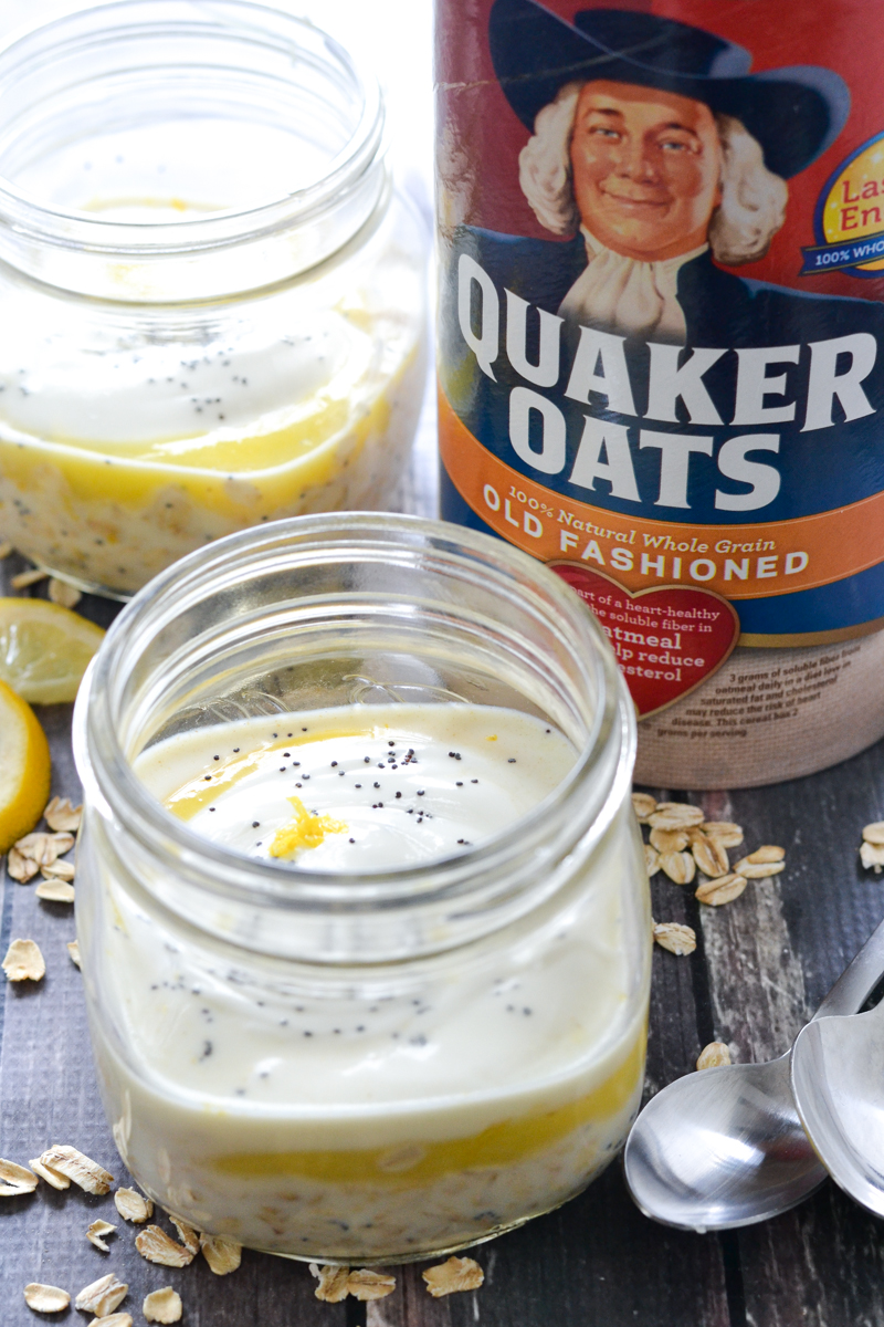 Lemon Poppy Seed Overnight Oats | www.motherthyme.com