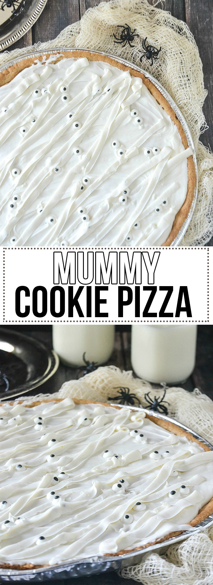 Mummy Cookie Pizza - www.motherthyme.com