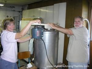 The honey extractor