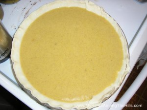 Cushaw pie ready to bake