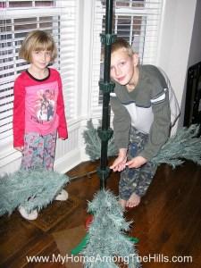 Setting up the Christmas Tree!