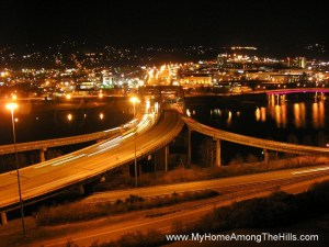 Charleston, WV at night!