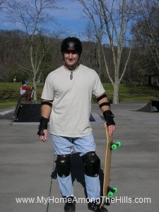Skateboarding at Coonskin