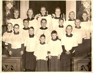 Fred Patterson et al - choir boys of Christ Episcopal Church Coudersport PA ca 1953