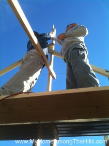 Hanging the ridge board