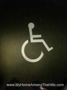 Handicap parking sticker on my chair mat