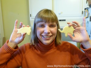 A pig and an elephant cookie